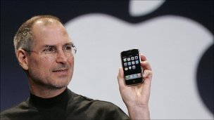 Steve Jobs at the iPhone launch (Jan 2007)
