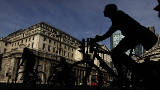 cyclist past bank of england