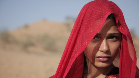 Film still from Trishna starring Freida Pinto
