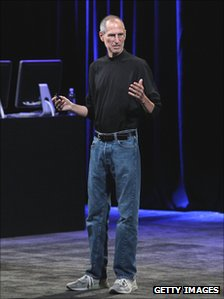 Steve Jobs in jeans and turtleneck