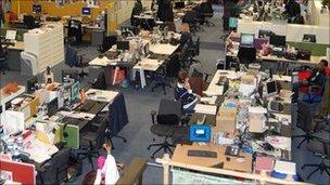 Inside the newsroom at BBC Birmingham