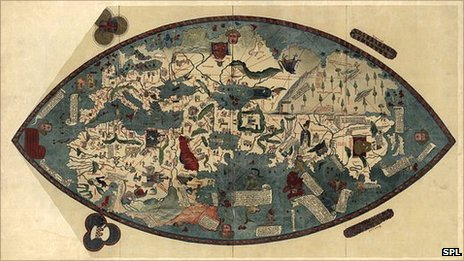 Genoese map of the world, 1450