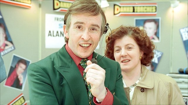 Steve Coogan as Alan Partridge and Felicity Montagu as Lynn