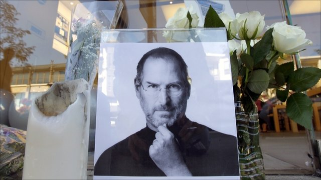 Tribute window for Apple's Steve Jobs