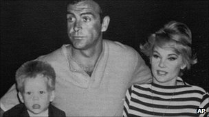 Sean Connery with Diane Cilento and their son Jason