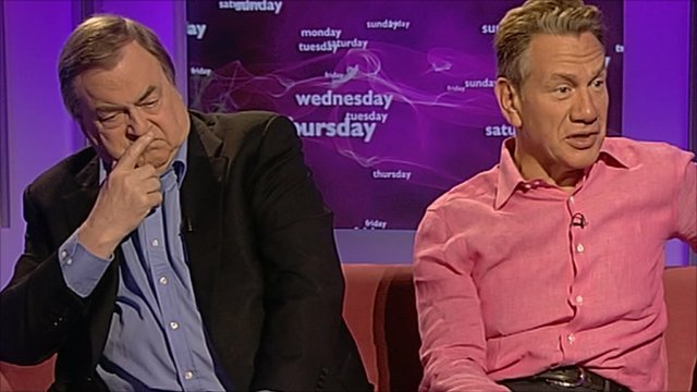 John Prescott and Michael Portillo