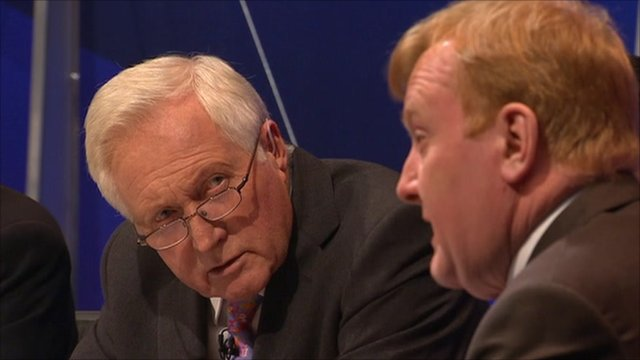 David Dimbleby with Charles Kennedy