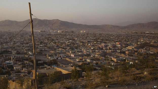 View of part of Afghanistan's capital city Kabul