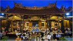 Temple and worshippers in Taiwan