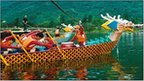 Dragon boat and rowers