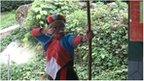 Paicu Luheacana with bow and arrow