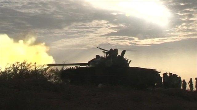 Tank firing