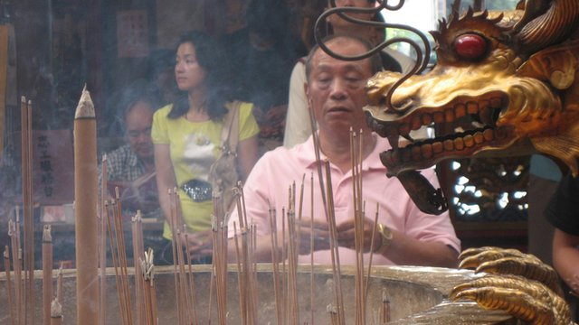 Incense at Taichung temple