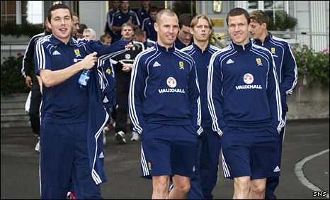 Don Cowie, Kenny Miller and Gary Caldwell