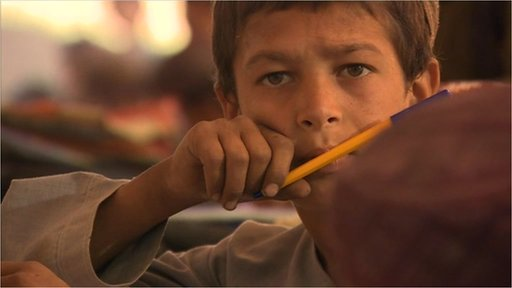 Child in an Afghan school