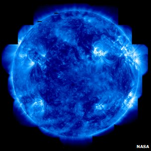 Sun imaged in ultraviolet