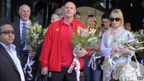 Blackburn manager Steve Kean arrives in India