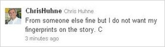 Chris Huhne's tweet