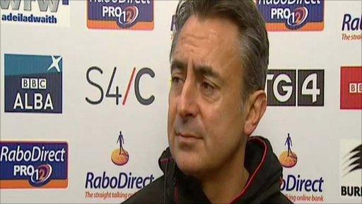 Scarlets coach Nigel Davies