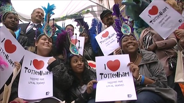 People gather to launch the I Love Tottenham campaign