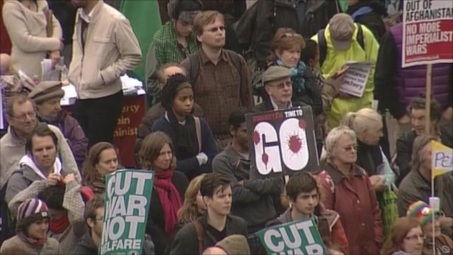 Anti war protesters