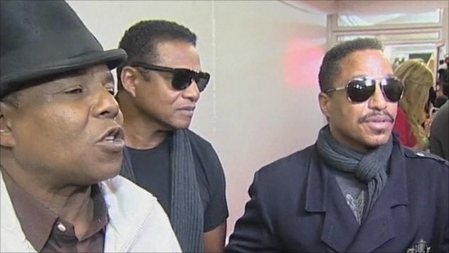 Michael Jackson's brothers, Tito, Marlon and Jackie