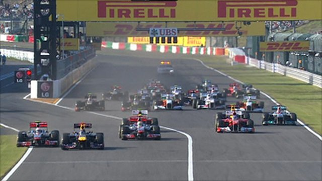 Start of Japanese Grand Prix