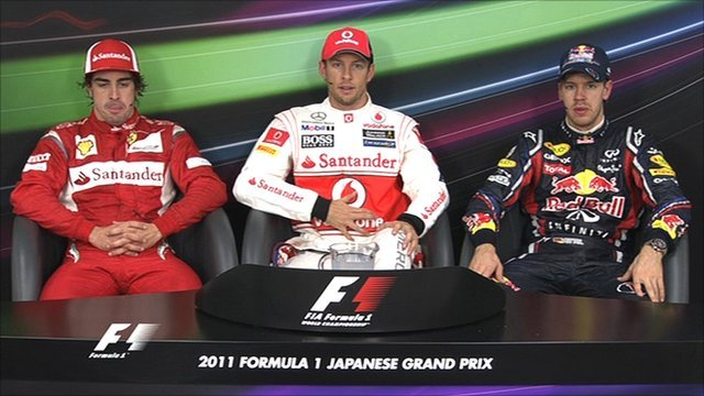 Japanese GP top three drivers