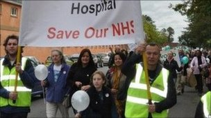 Heathwood Hospital protest march