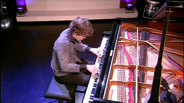 Benjamin Grosvenor performing on The Andrew Marr Show