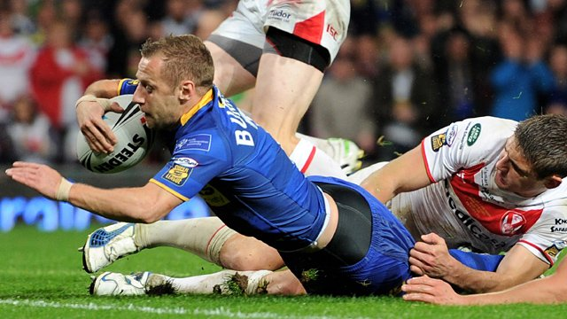 Rob Burrow scores for Leeds