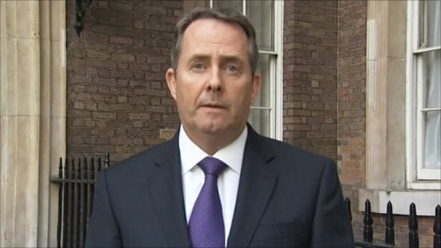 Defence Secretary Liam Fox