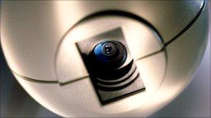 Close-up of webcam