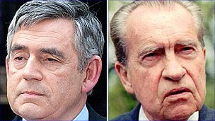 Gordon Brown and Richard Nixon