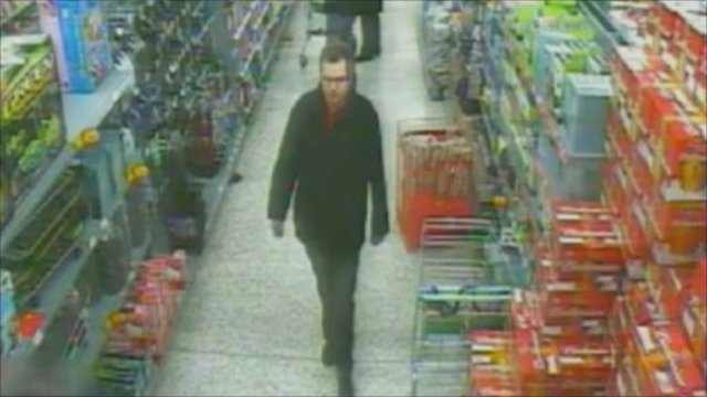 CCTV of Vincent Tabak at a supermarket in Bristol
