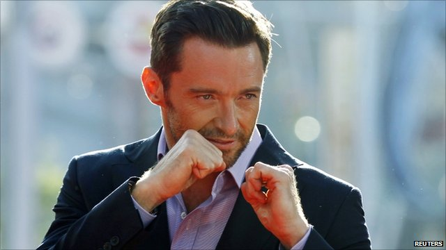 Hugh Jackman at the LA premiere of Real Steel