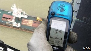 GPS device. Pic: Ministry of Defence