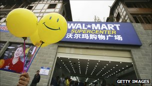 A Wal-Mart store in Chongqing, China
