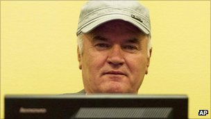 Gen Ratko Mladic in court at The Hague, 4 July