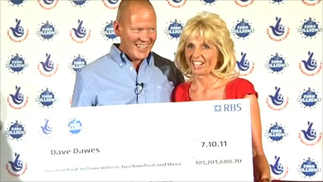 £101m lottery winners Dave and Angela Dawes