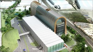 Designs for Cross Green waste treatment plant