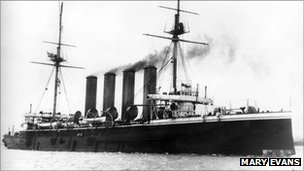HMS Aboukir was sunk early in WWI by a German submarine
