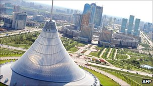 Aerial view of Astana, the capital of Kazakhstan