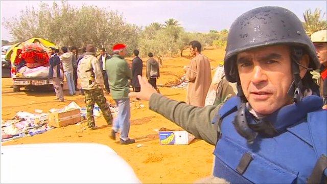 Wyre Davies near Sirte
