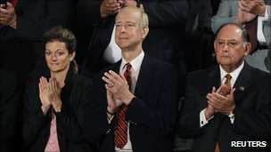 Henry Juszkiewicz (c) during President Barack Obama's address to Congress, September 2011
