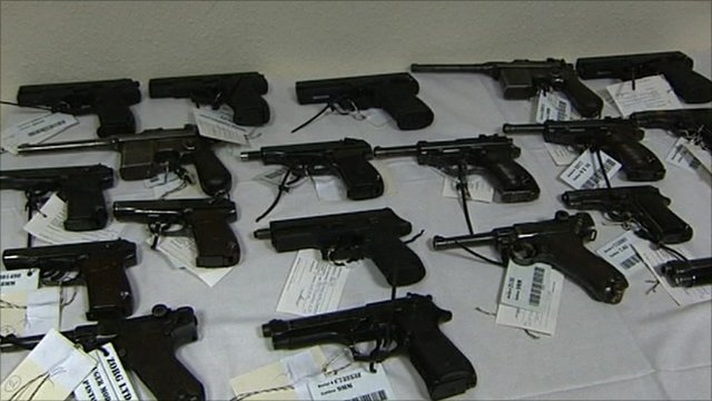 Guns seized in Hungary