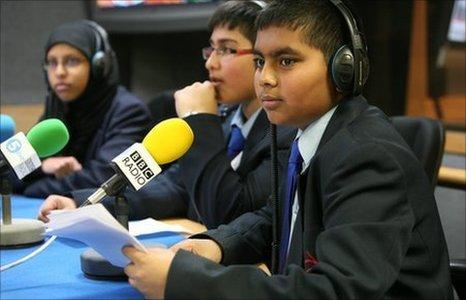 School Reporters on News Day