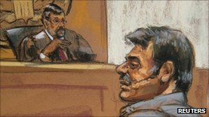 Courtroom sketch of Manssor Arbabsiar - 11 October