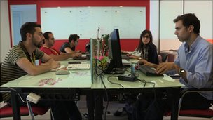 Internet users at Lebanese start up company Seeqnce