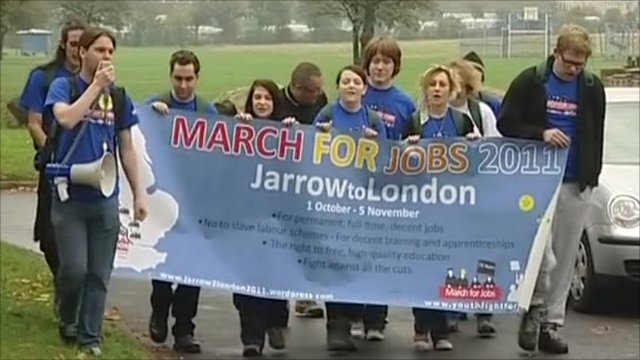 Marching for jobs
